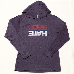Human Rights Campaign Love Conquers Hate Tee Hood